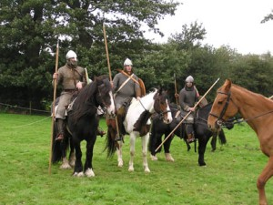 Modern re-enactment of Norman light cavalry, these would have provided the rear and front guard of De Clare's party